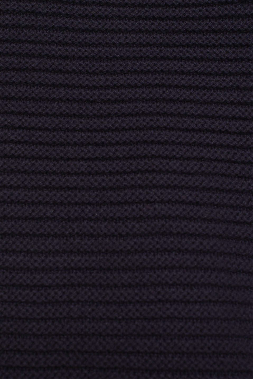 Hoodie made of compact ribbed yarn, NAVY, detail image number 4