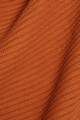Hoodie made of compact ribbed yarn
