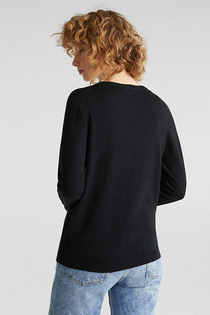 Vest van een katoenmix, BLACK, detail image number 3