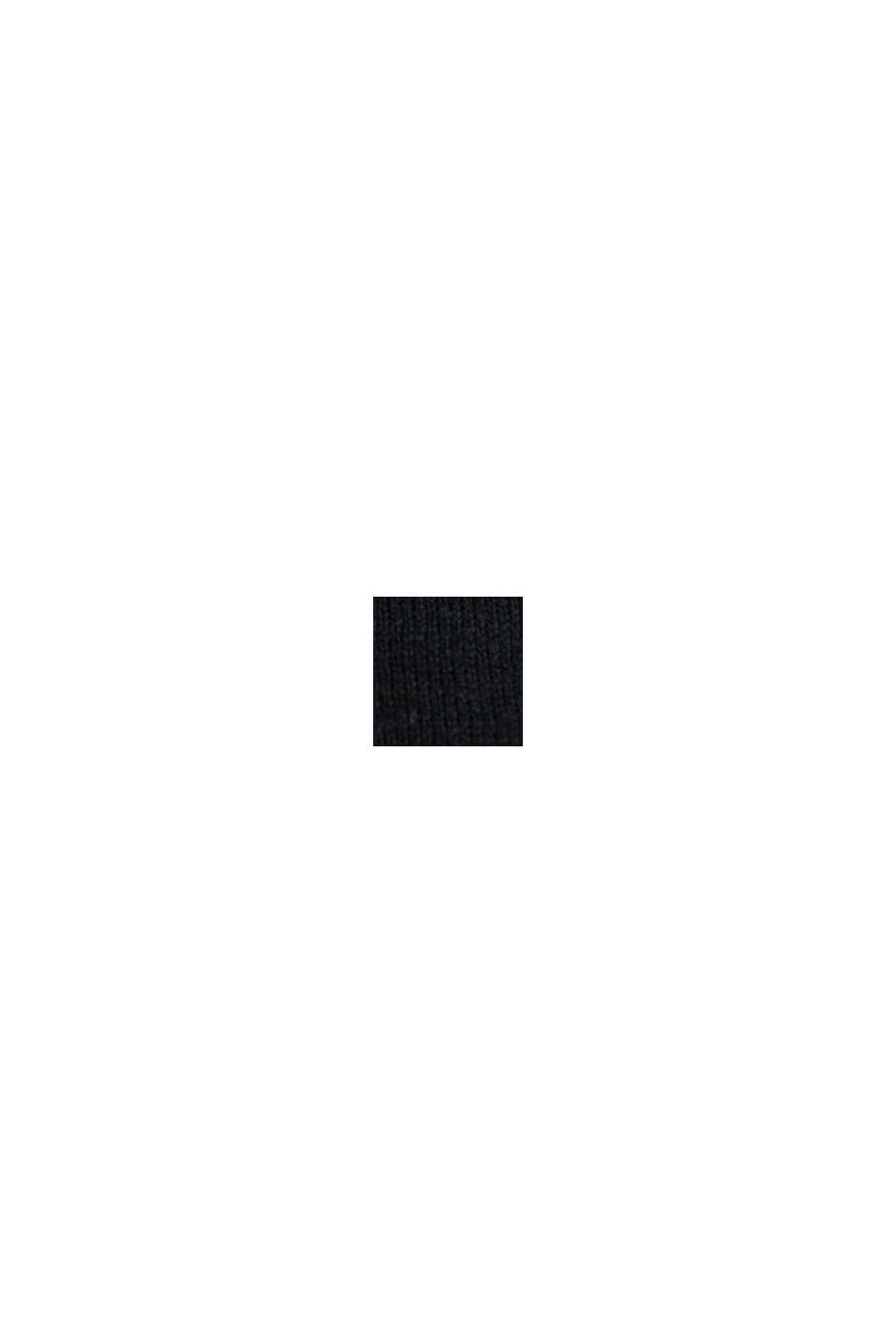 Vest van een katoenmix, BLACK, swatch