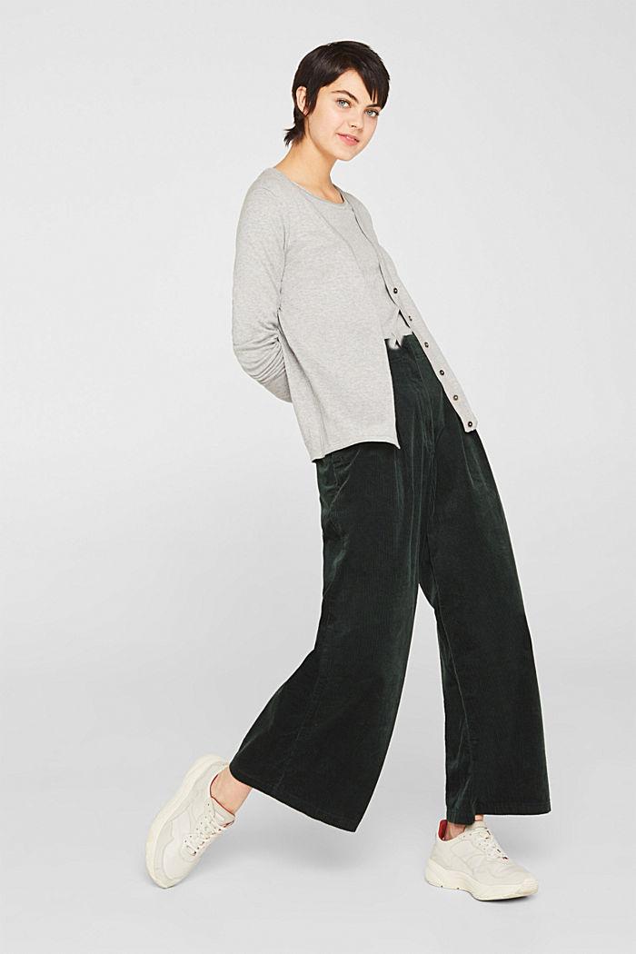 Cotton blend cardigan, LIGHT GREY, detail image number 1