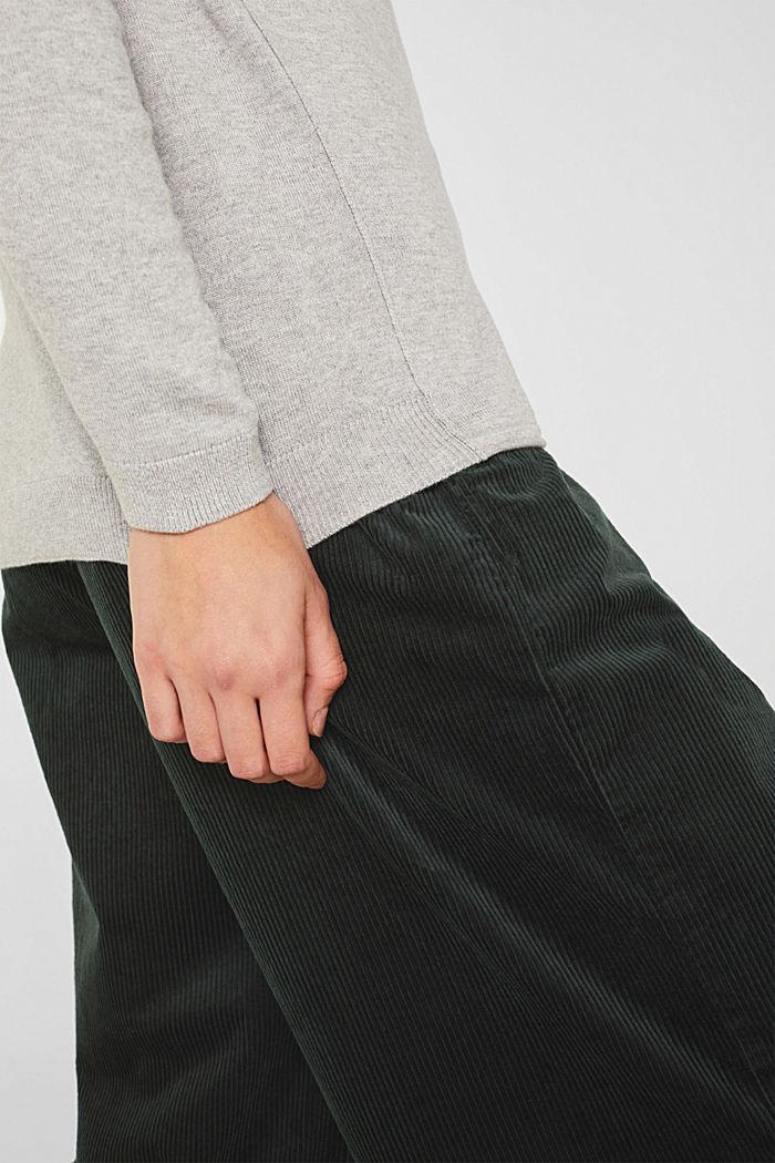 Cotton blend cardigan, LIGHT GREY, detail image number 2