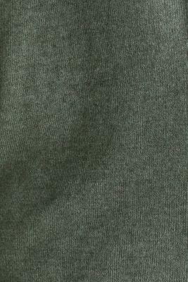 Fine-knit blended cotton cardigan, KHAKI GREEN 5, detail