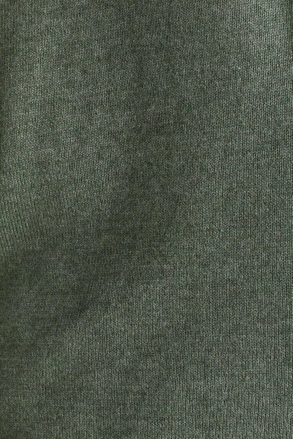 Fine-knit blended cotton cardigan, KHAKI GREEN 5, detail image number 4