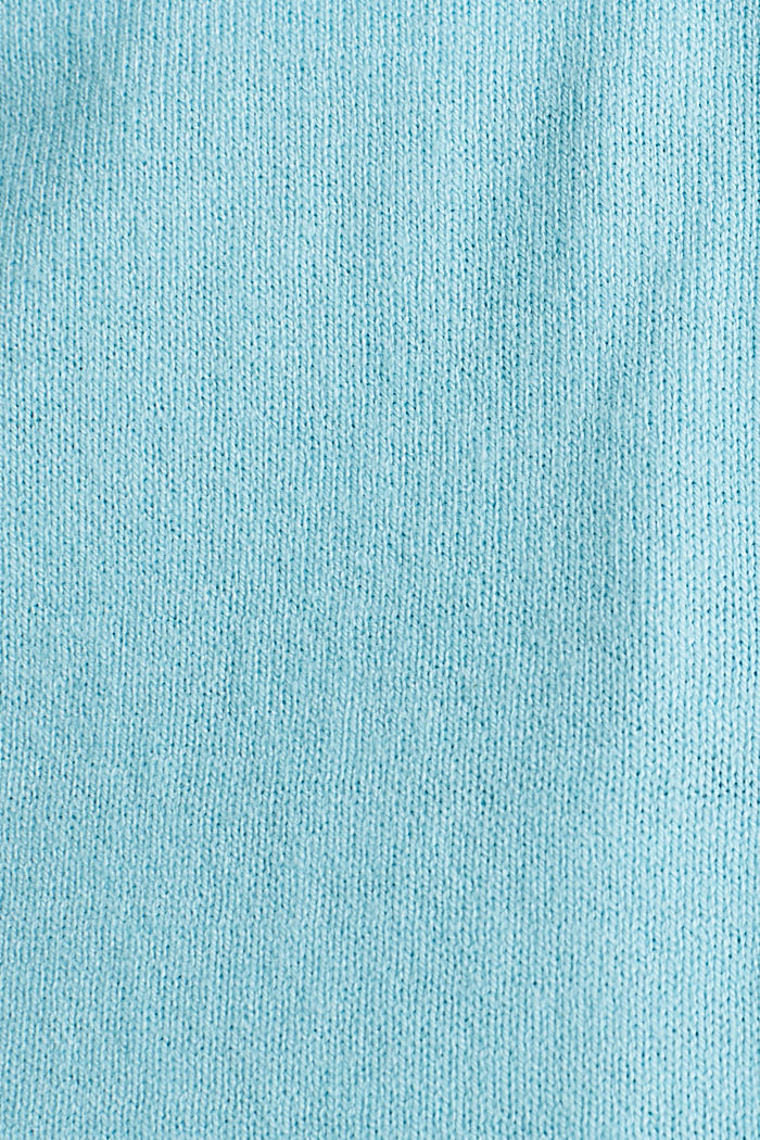 Cotton blend cardigan, TURQUOISE, detail image number 4