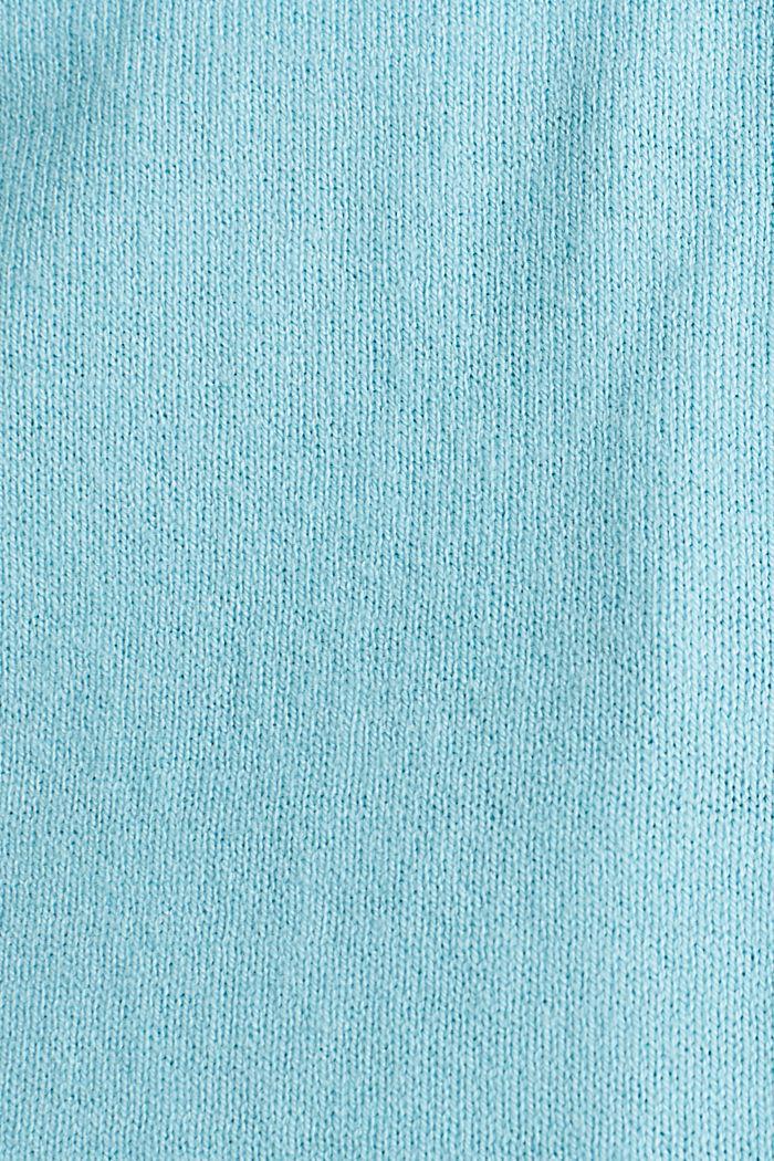 Cardigan en coton mélangé, TURQUOISE, detail image number 4