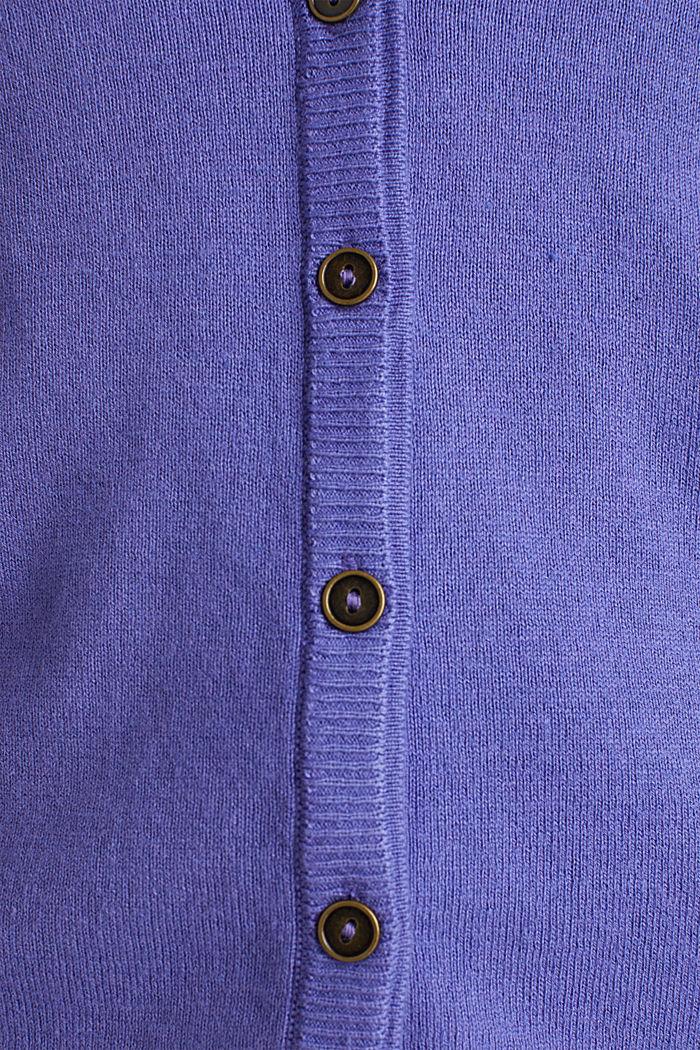 Cotton blend cardigan, DARK LAVENDER, detail image number 3