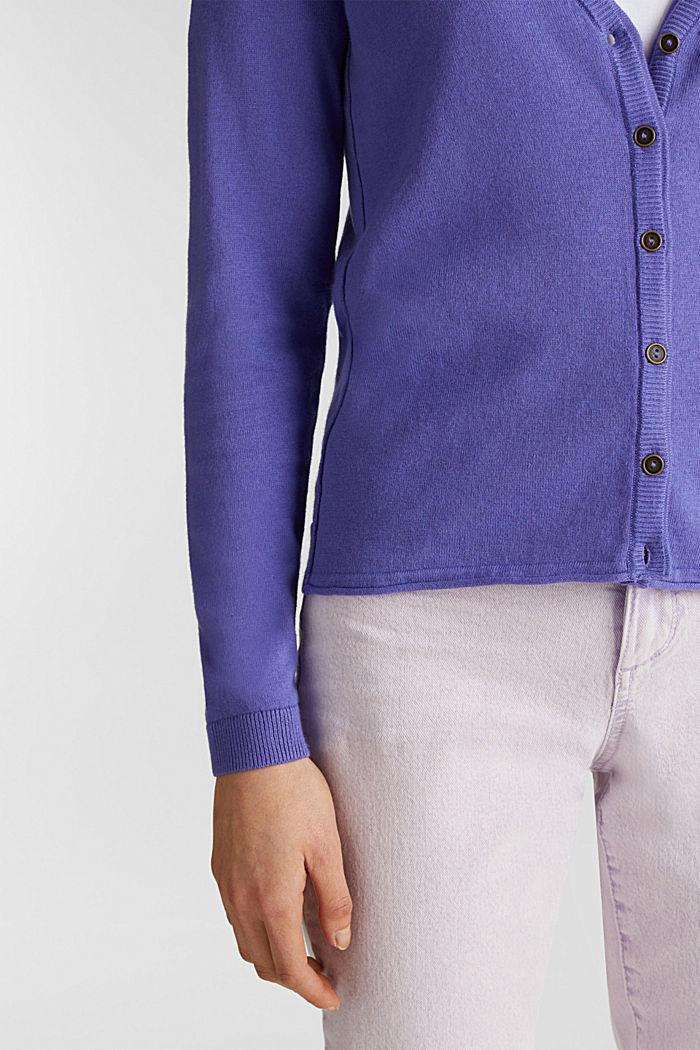 Cotton blend cardigan, DARK LAVENDER, detail image number 4