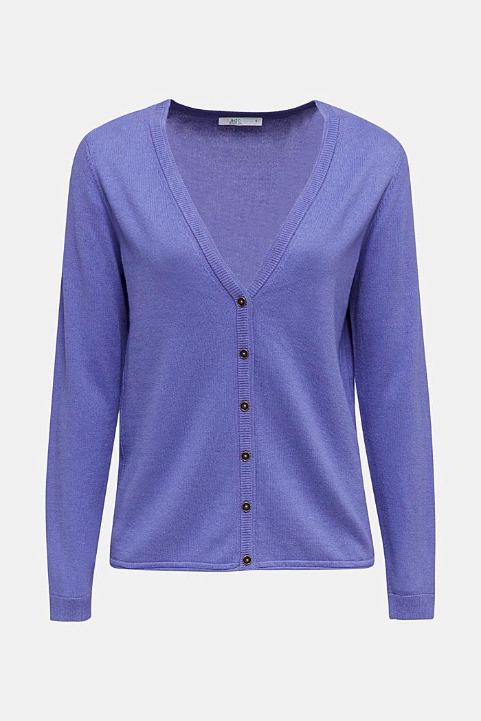 Cotton blend cardigan, DARK LAVENDER, detail image number 6