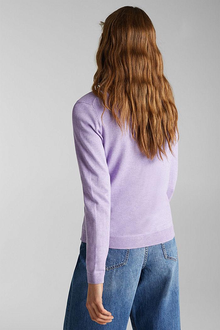 Cotton blend cardigan, LILAC, detail image number 2