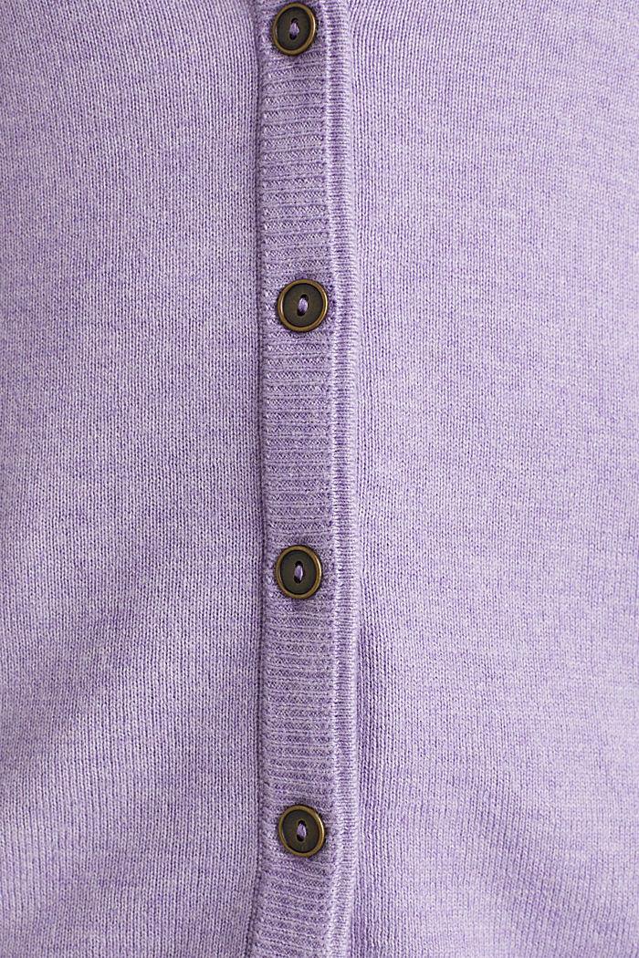 Cotton blend cardigan, LILAC, detail image number 3