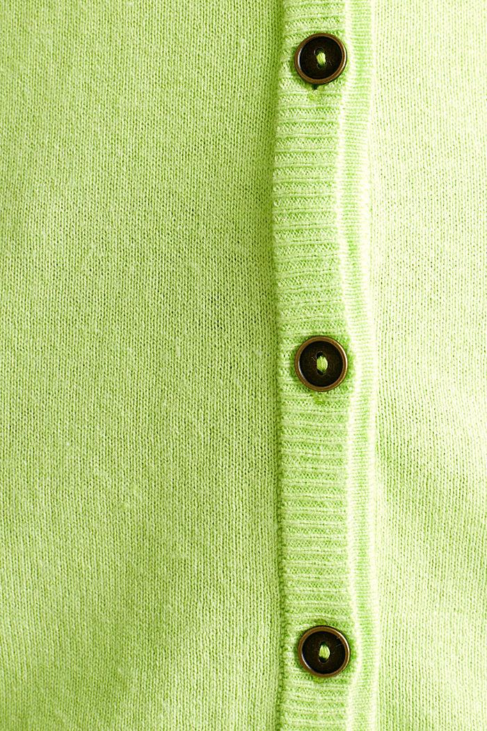 Vest van een katoenmix, LIME YELLOW, detail image number 3