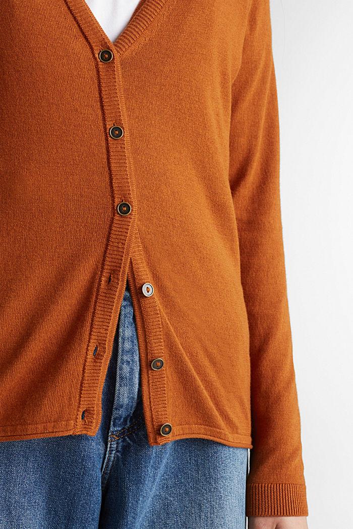 Cotton blend cardigan, CINNAMON, detail image number 2