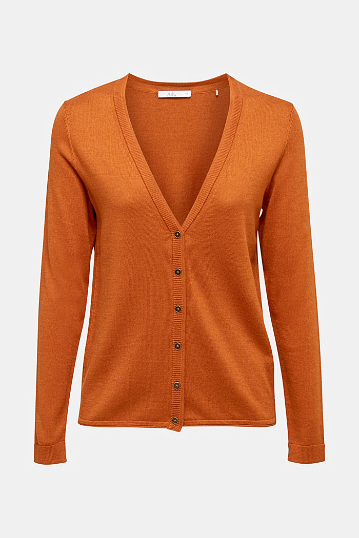 Cotton blend cardigan, CINNAMON, detail image number 5