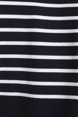 Jumper with a band collar and side slits, BLACK, detail