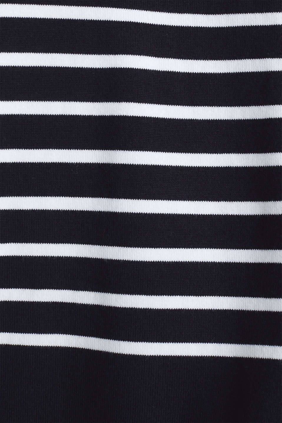Jumper with a band collar and side slits, BLACK, detail image number 4