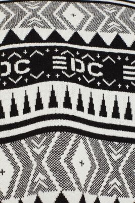 Boxy jacquard jumper, 100% cotton, BLACK, detail
