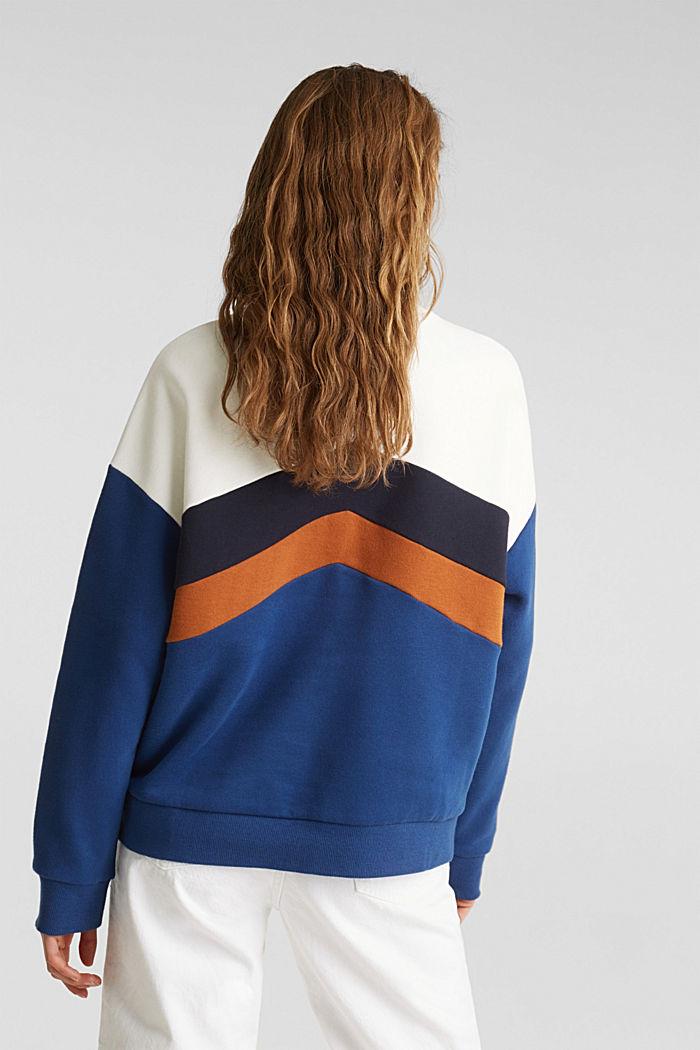 Sweatshirt with a colour block design, DARK BLUE, detail image number 3