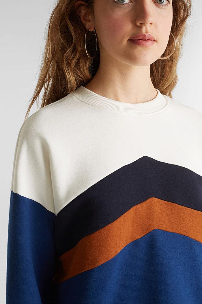 Sweatshirt with a colour block design, DARK BLUE, detail image number 2