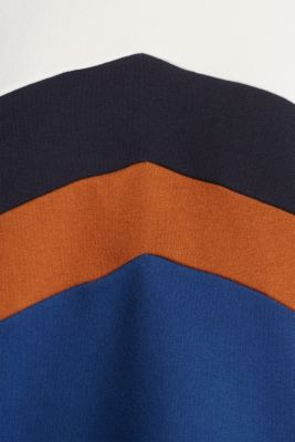 Sweatshirt with a colour block design, DARK BLUE, detail