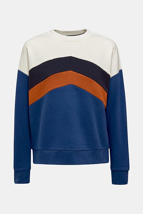 Sweatshirt with a colour block design