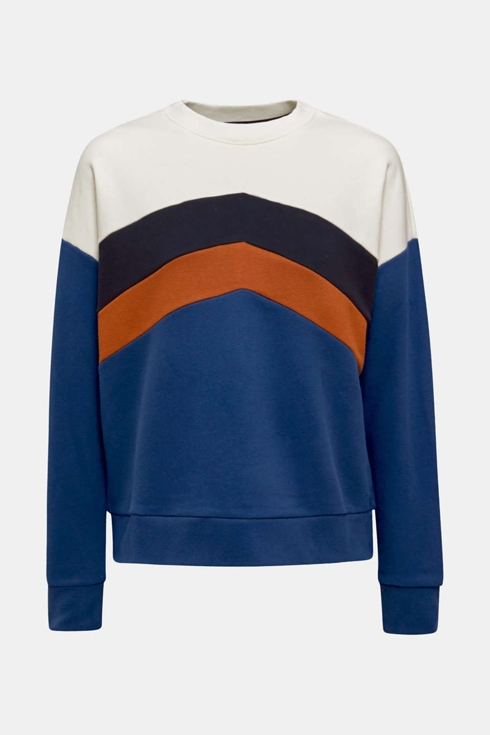 Sweatshirt with a colour block design, DARK BLUE, detail image number 5