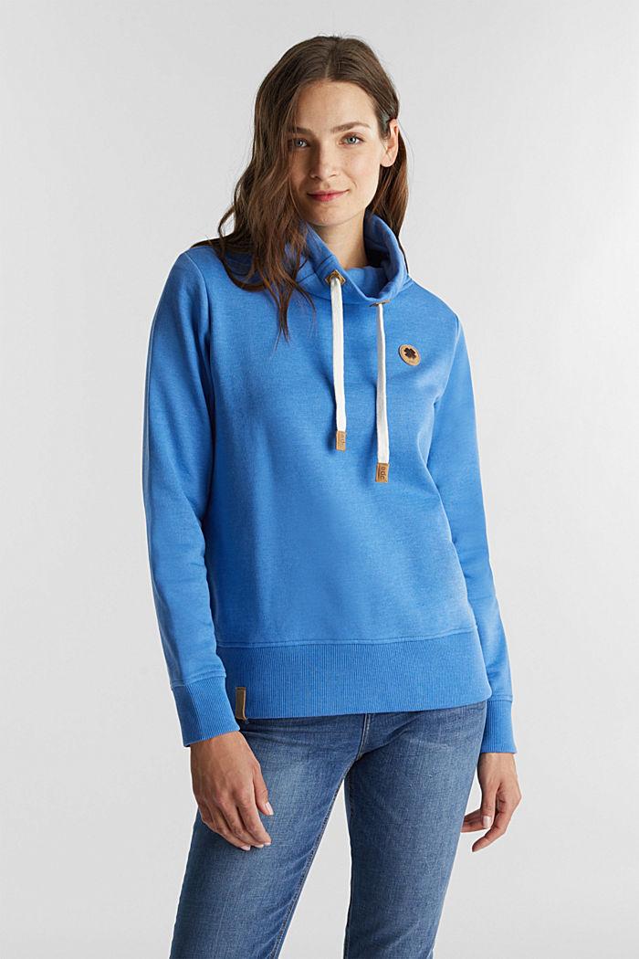 Sweatshirt mit Tunnelkragen, BRIGHT BLUE, detail image number 0