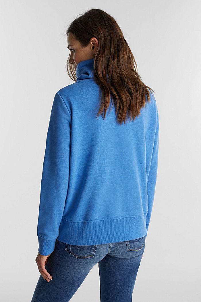 Sweatshirt mit Tunnelkragen, BRIGHT BLUE, detail image number 3