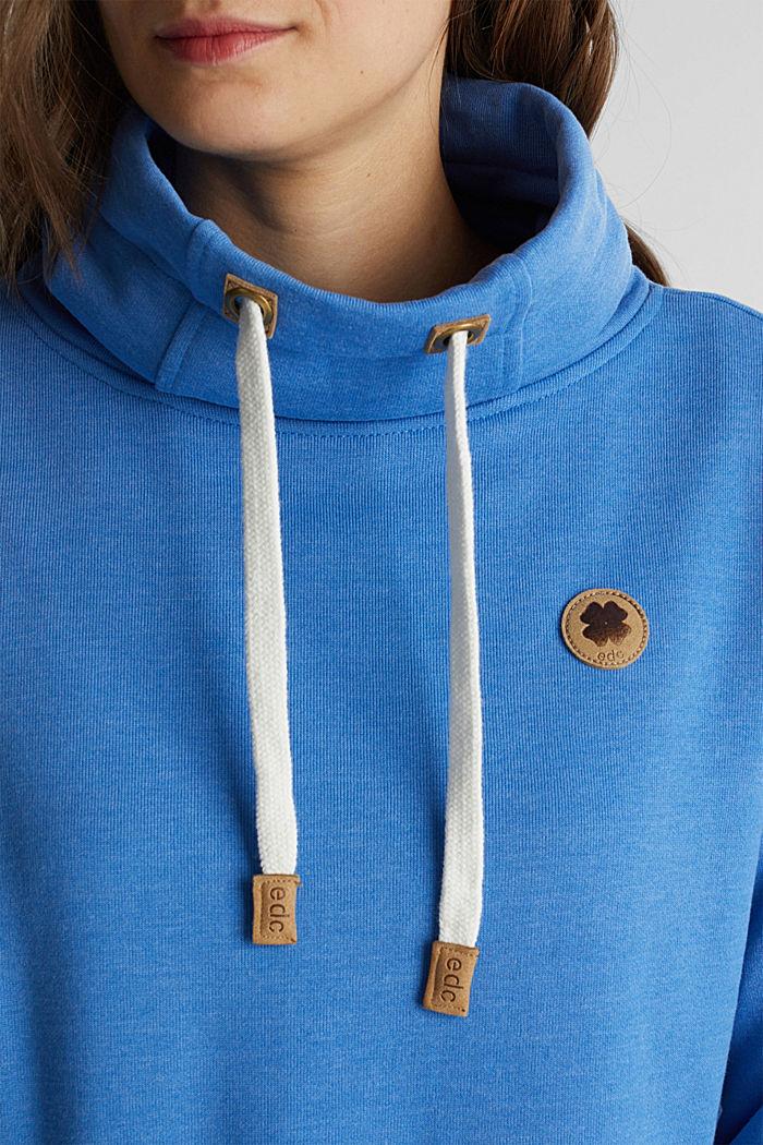 Sweatshirt mit Tunnelkragen, BRIGHT BLUE, detail image number 2