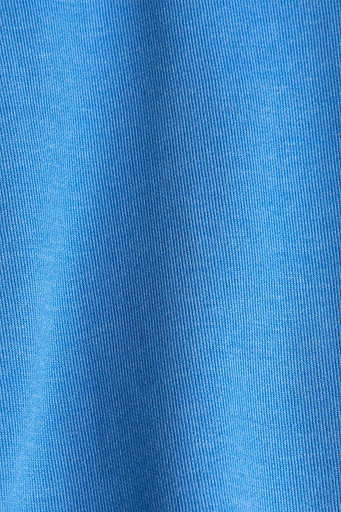 Sweatshirt mit Tunnelkragen, BRIGHT BLUE, detail image number 4