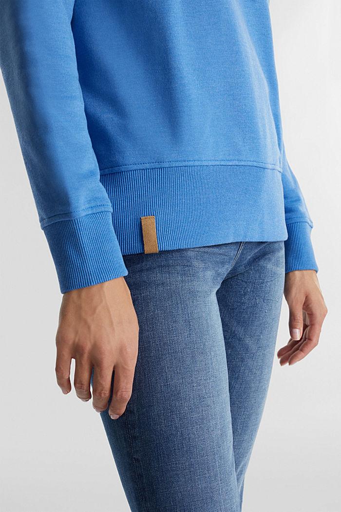 Sweatshirt mit Tunnelkragen, BRIGHT BLUE, detail image number 5