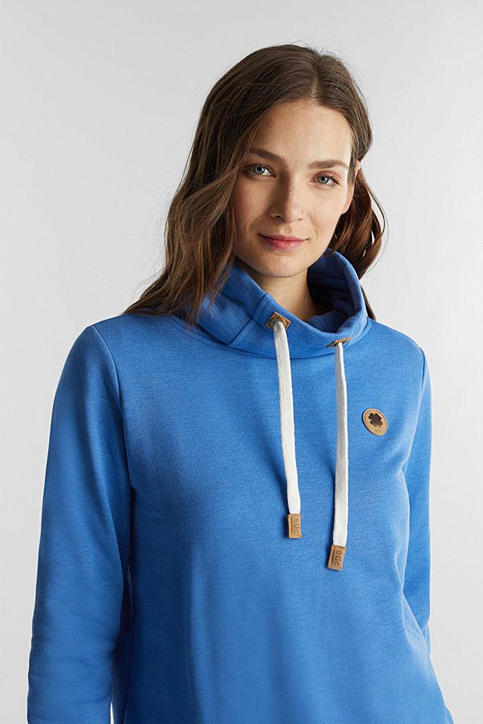 Sweatshirt mit Tunnelkragen, BRIGHT BLUE, detail image number 6