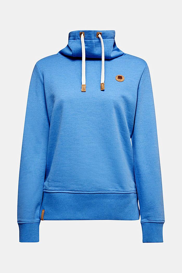 Sweatshirt mit Tunnelkragen, BRIGHT BLUE, detail image number 7