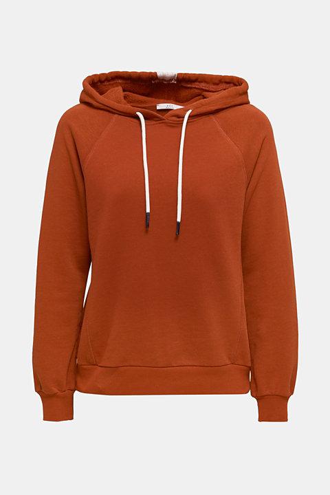 Logo tape detail hoodie, 100% cotton