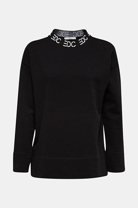 Sweatshirt with a logo on the cuffs