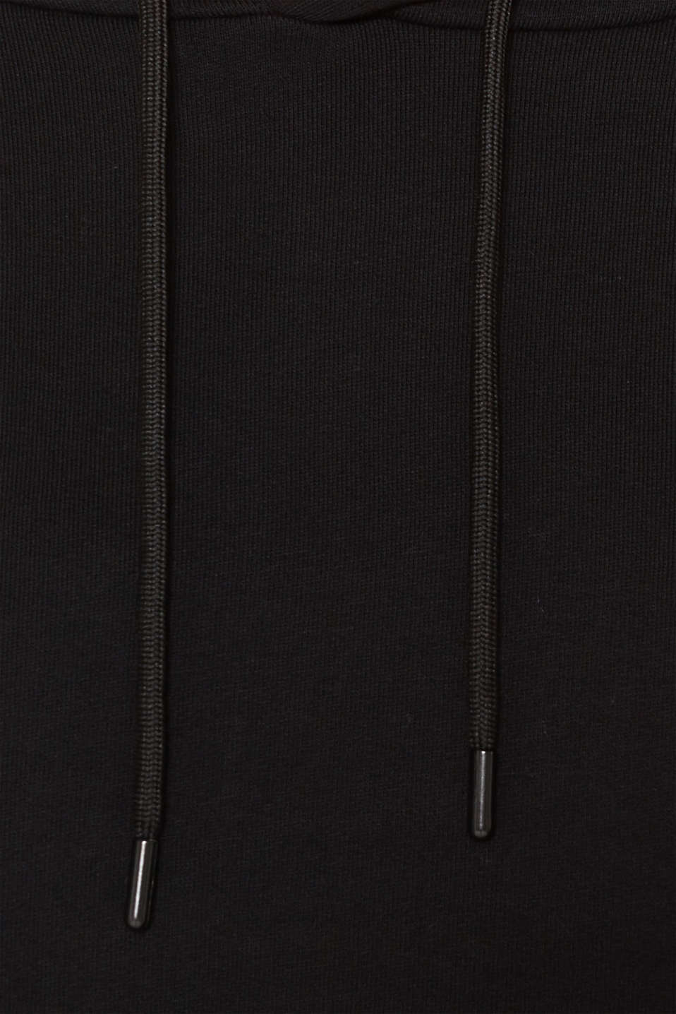 Boxy, oversized hoodie, 100% cotton, BLACK, detail image number 4