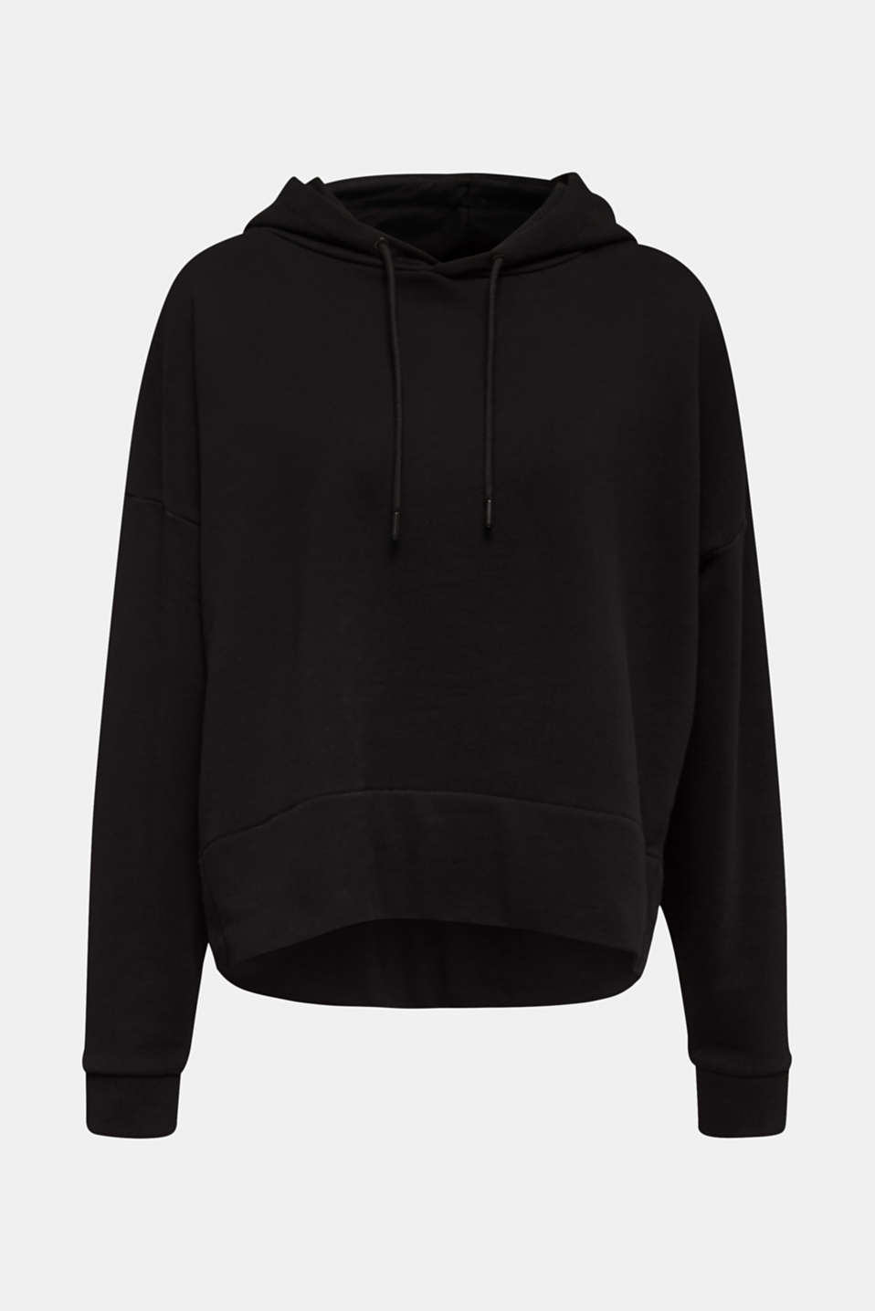Boxy, oversized hoodie, 100% cotton, BLACK, detail image number 6