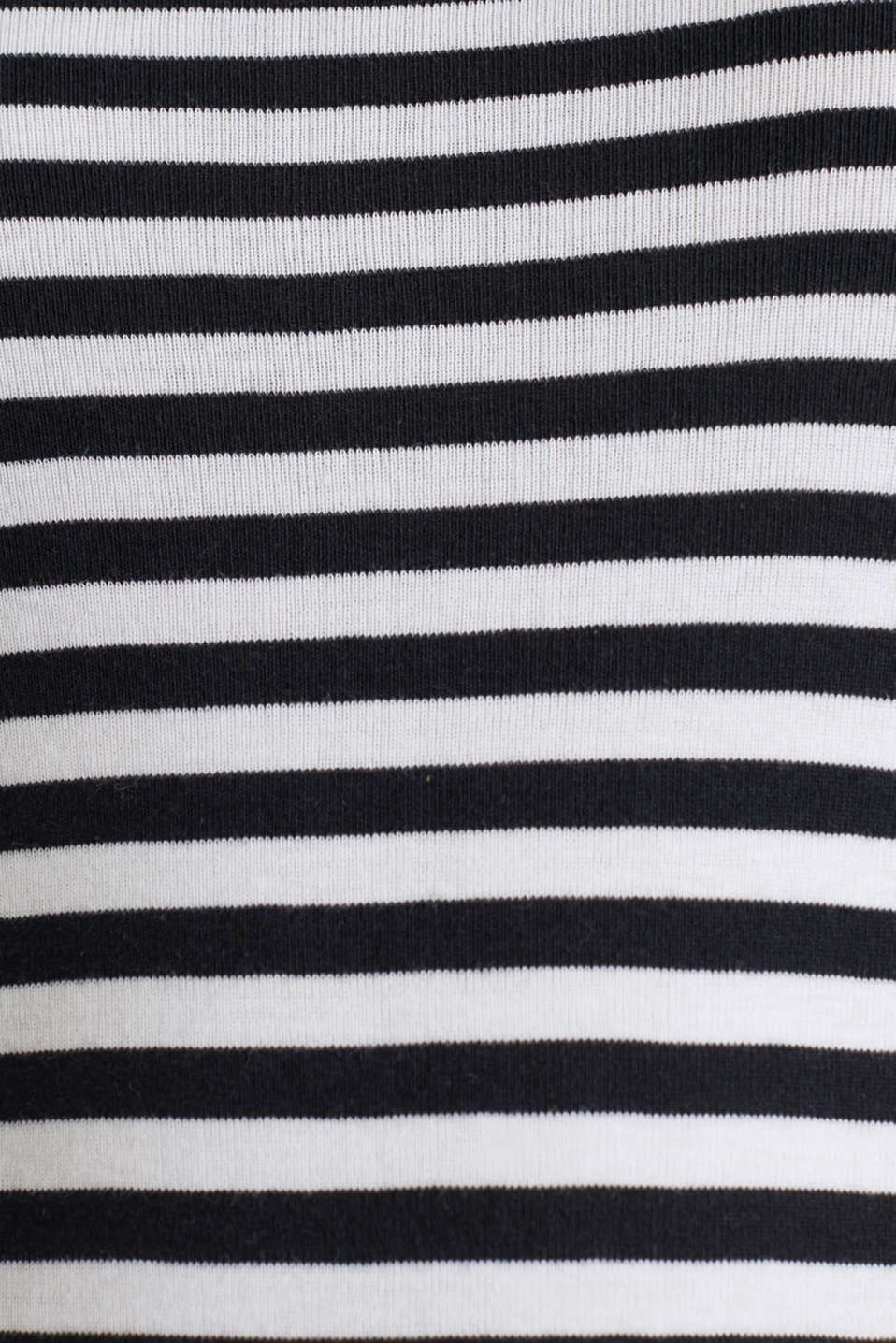 Striped long sleeve top, 100% cotton, BLACK, detail image number 4