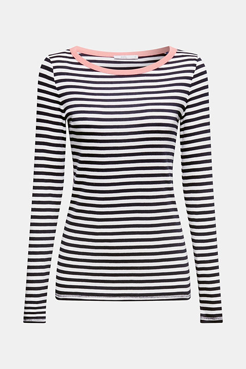 Striped long sleeve top, 100% cotton