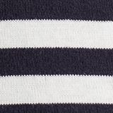 Striped long sleeve top, 100% cotton, NAVY, swatch