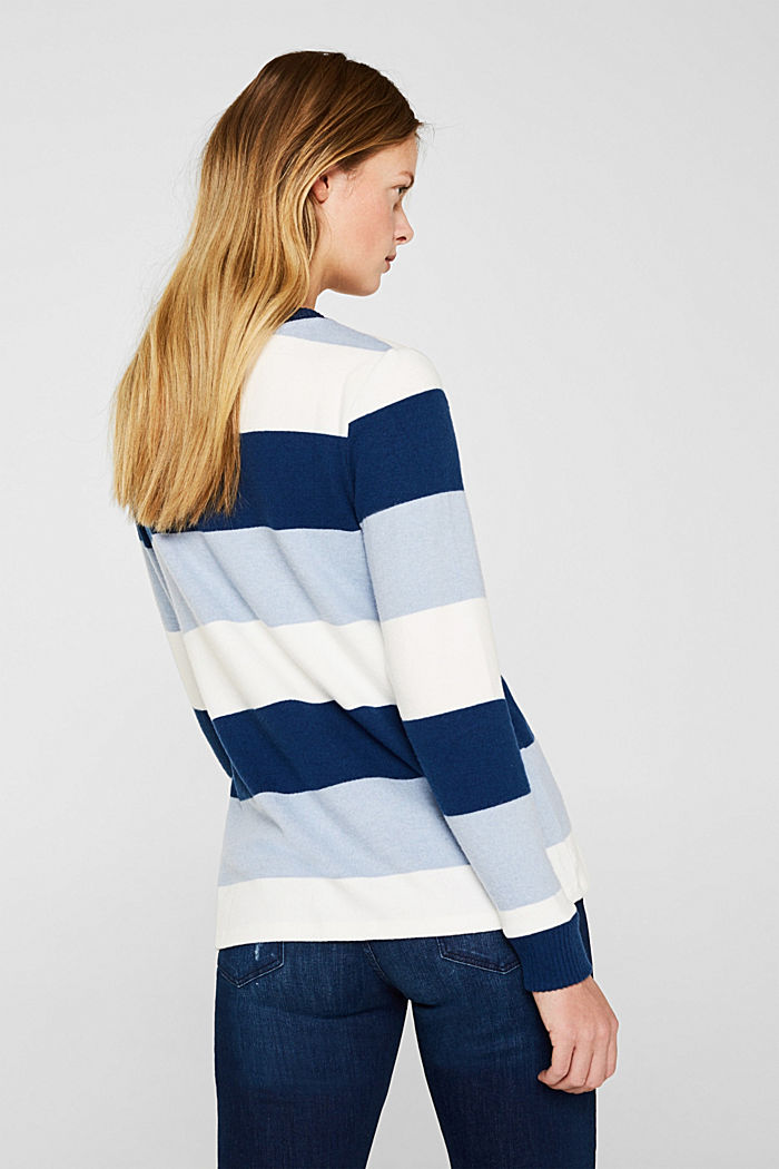 Fluffy long sleeve top with ribbed borders, PASTEL BLUE, detail image number 3