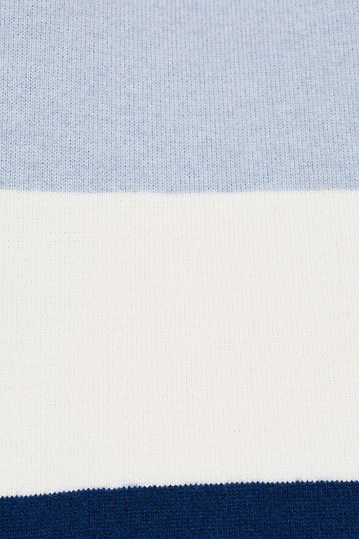 Fluffy long sleeve top with ribbed borders, PASTEL BLUE, detail image number 2