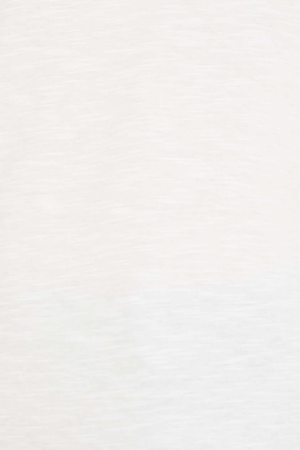 Henley long sleeve top with organic cotton, OFF WHITE, detail image number 2