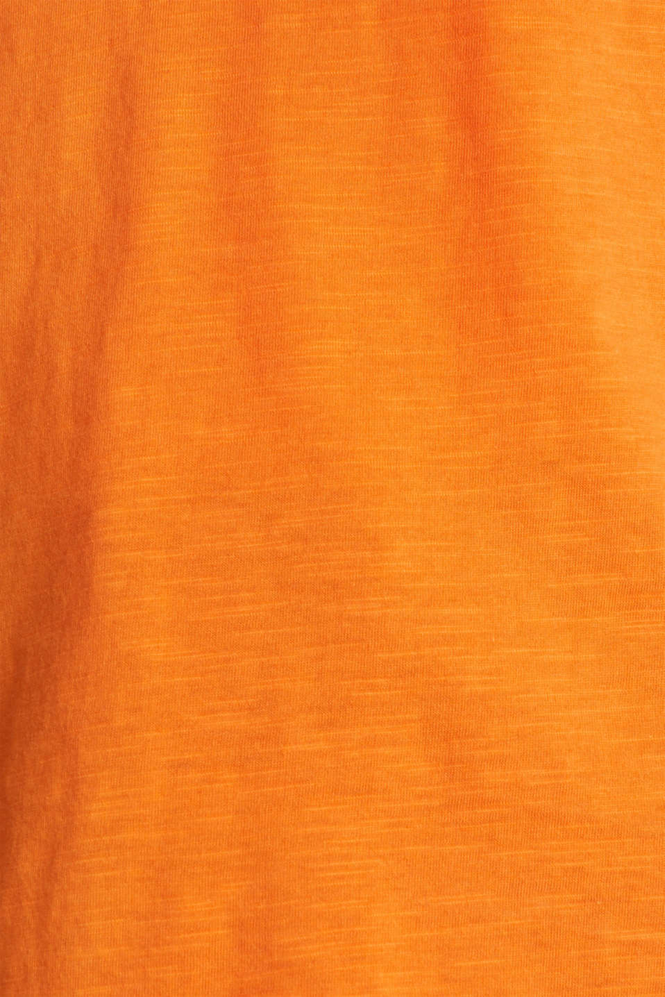 Henley long sleeve top with organic cotton, ORANGE, detail image number 4