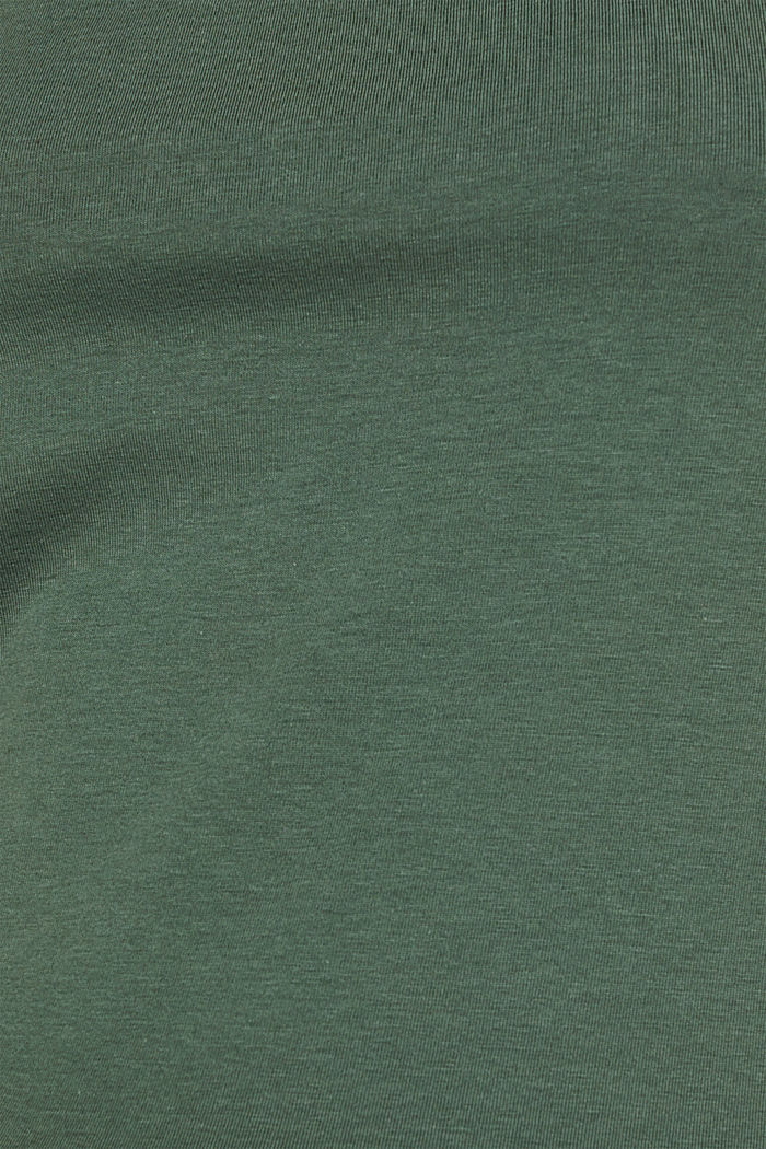 Basic top in stretch cotton, KHAKI GREEN, detail image number 4
