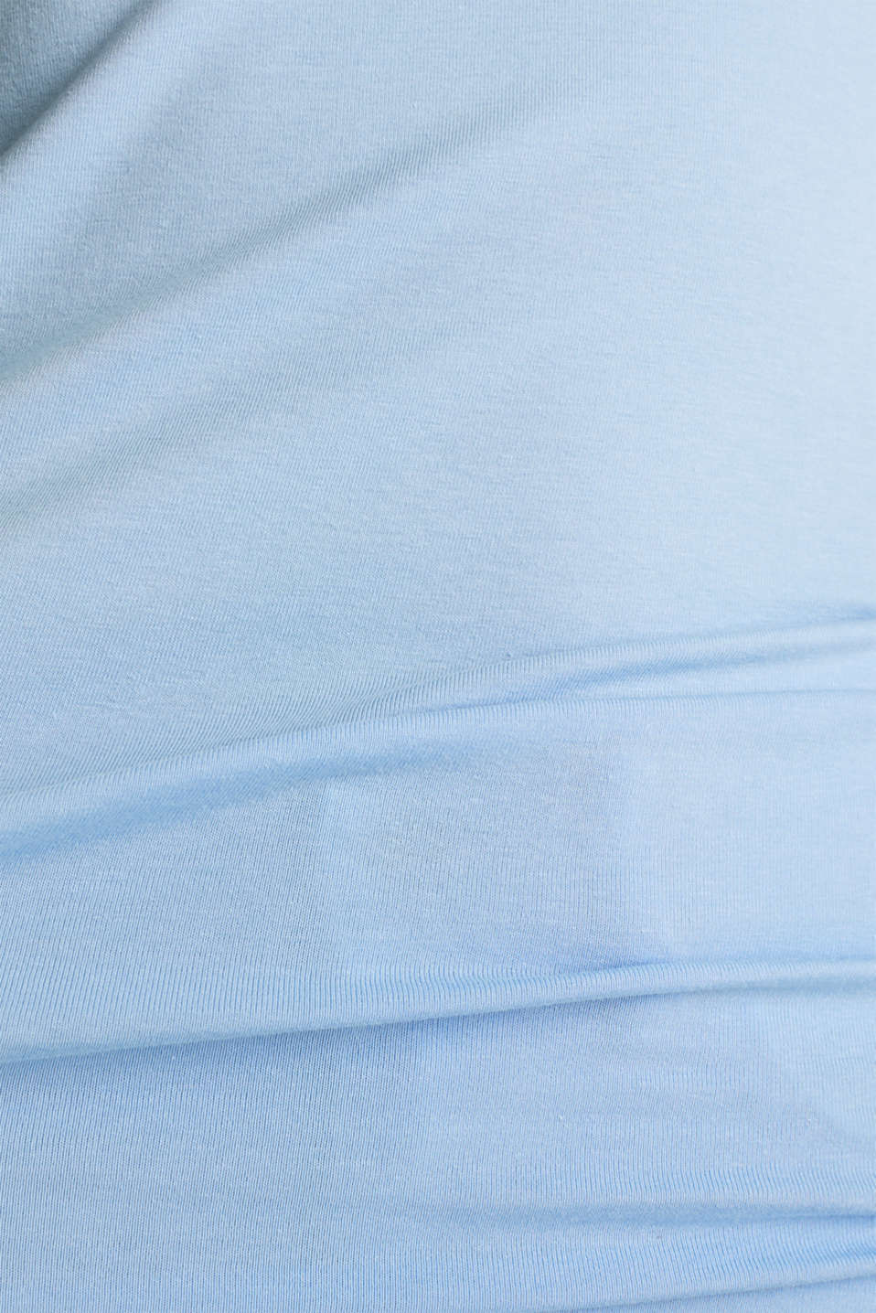 Basic top in stretch cotton, BLUE LAVENDER 4, detail image number 3