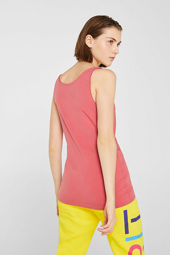 Basic top in stretch cotton, BLUSH, detail image number 3