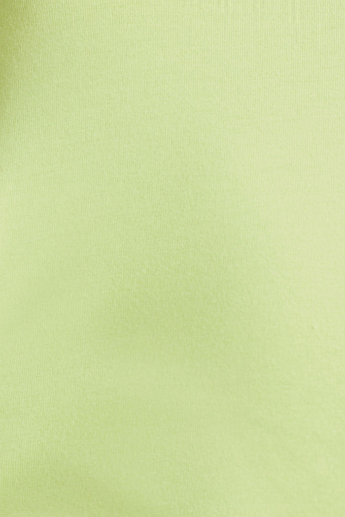 Basic top in stretch cotton, LIME YELLOW, detail image number 4