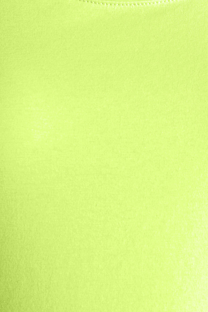 Long stretch cotton top, LIME YELLOW, detail image number 4