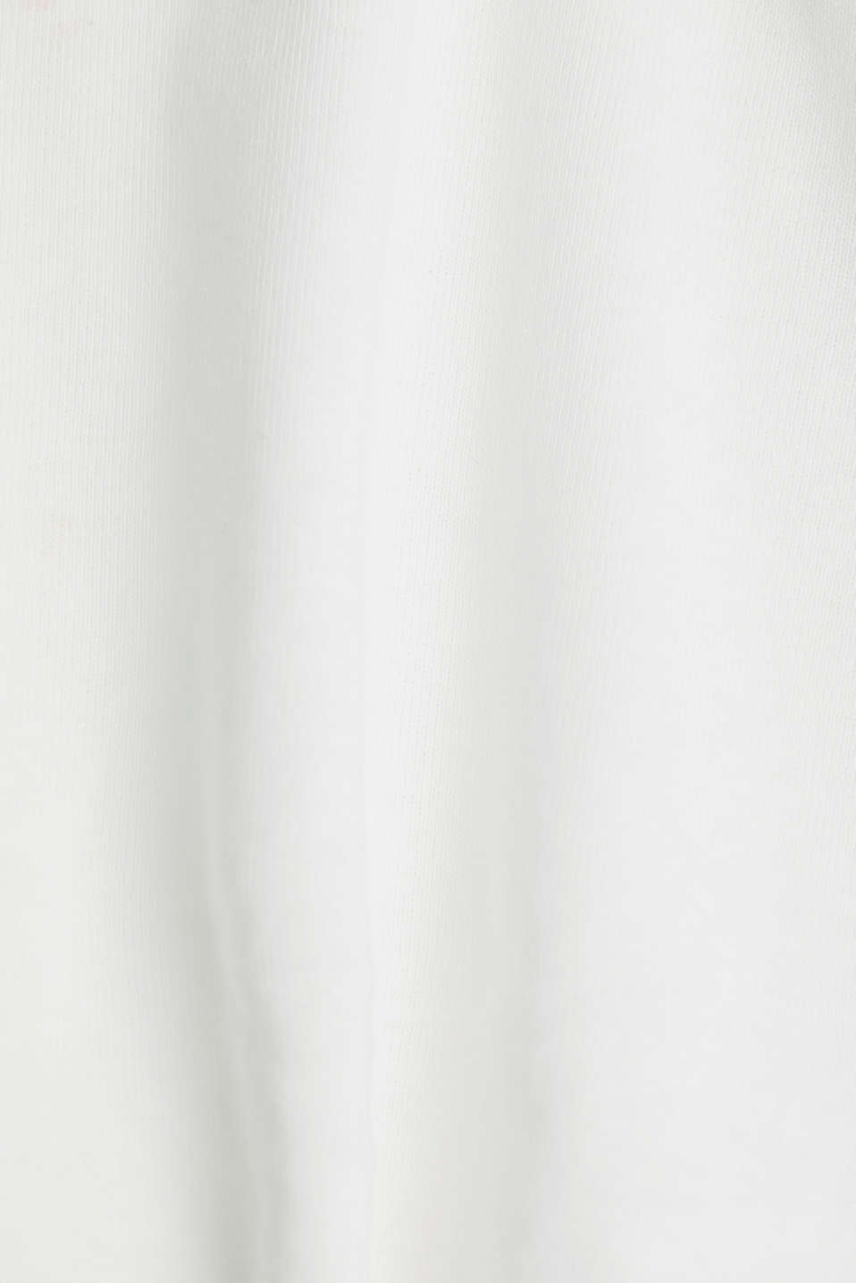 Feminine top with lace, 100% cotton, OFF WHITE, detail image number 4